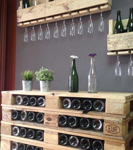Bar à vin en palette de bois Pinterest