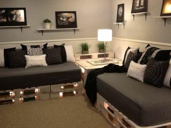 Canapé en palettes Pinterest