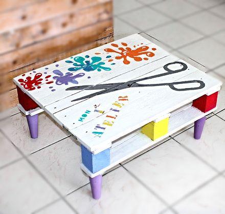 Table pour enfant Pinterest