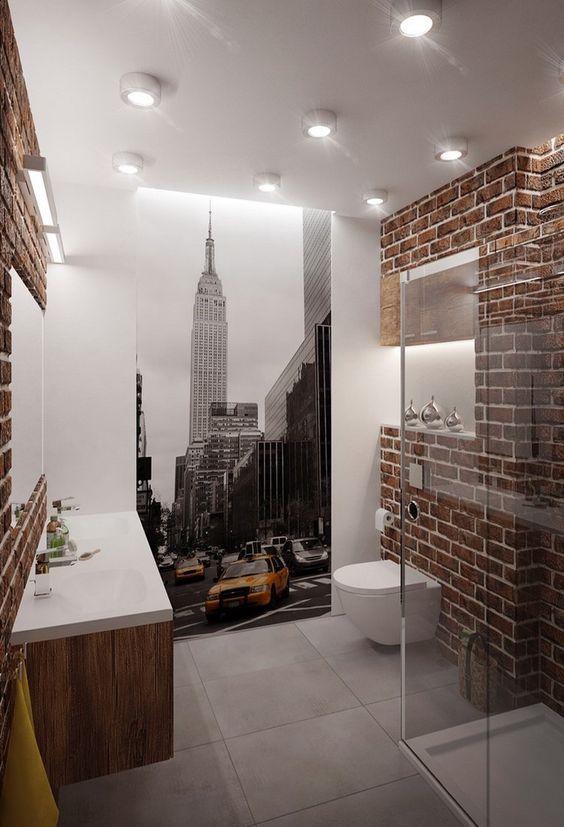 des briques dans la d co vos plans sur la com te. Black Bedroom Furniture Sets. Home Design Ideas
